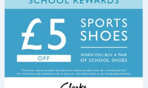 Clarks school shoes offer